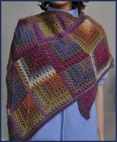 Shawl Patterns | Eyelet Shawl – Crystal Palace Yarns – free knitted shawl pattern