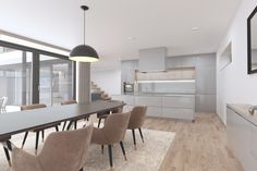 Private House Interior Design made by: Zambaut-Design Home Interior Design, Exterior Design, Interior And Exterior, Kitchen Dining, Dining Room, Dining Table, Villa, Architecture, Projects