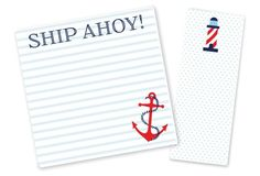 S/2 Ship Ahoy Notepads, Red/Blue