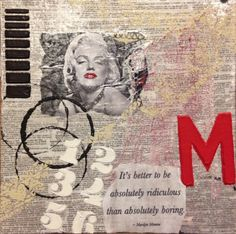 Awarded Honorable Mention:  Mx4 (Marilyn Monroe Mixed Media) by CIV MARY VONGHOM  #ArmyMWR