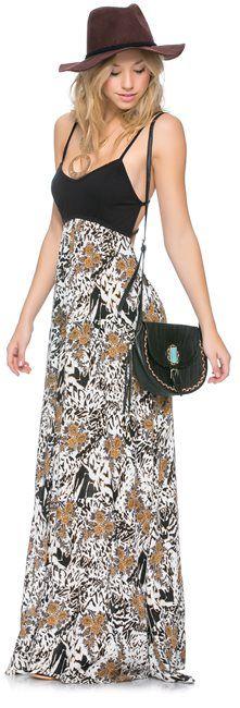 RVCA Carbon Ribs Maxi Dress http://www.swell.com/SHADE-STRIPES-6