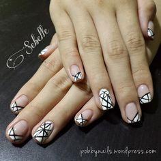 Geometric Nails by @pobbynails for @xsharmine .