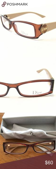 e66a90ebcb Christian Dior Eyeglasses in Women Christian Dior Eyeglasses in Glazed  Gold. Used