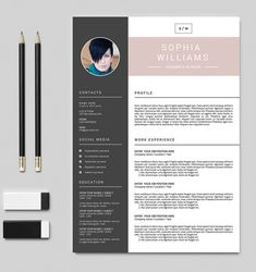 Professional Resume Template | Cv Design | Cover Letter U0026 References |  Resume For Word And Photoshop | INSTANT DOWNLOAD | Cv 017
