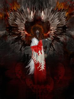 Fatherland by alkemik on DeviantArt High Fantasy, Anime Fantasy, Poland Hetalia, Vampires, Polish Tattoos, Poland History, Patriotic Pictures, Dark Power, Angels