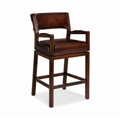 Hancock and Moore 160-30 Steele Farm Swivel Bar Stool available at Hickory Park Furniture Galleries