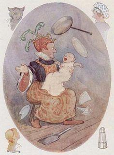 Illustration by Margaret Tarrant|Alice's Adventures In Wonderland.