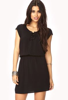 Poetic Lace-Up Dress   FOREVER21 - 2000072419