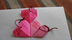 Valentine gift tags/origami heart tags/ by jmb paper designs, $5.00 USD