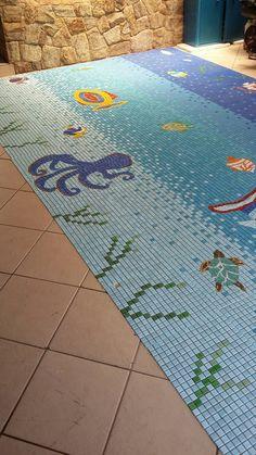"""""""detalhes""""Painel mosaico marítimo para piscina www.mosaicosmonica.com"""