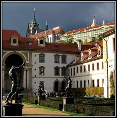 Wallenstein Palace with St Vitus's church & Castle in back ground Prague