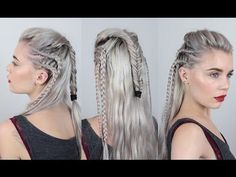 octavia hairstyle tutorial / hairstyle octavia the 100 . octavia hairstyle the 100 hair tutorials . Braided Hairstyles Tutorials, Cool Hairstyles, Ciara Hairstyles, Viking Hairstyles, Brunette Hairstyles, Hairstyles 2016, Modern Hairstyles, Warrior Braid, Lagertha Hair
