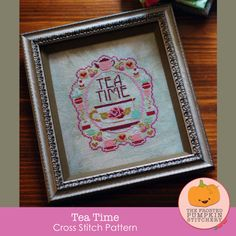 Tea Time : counted cross stitch pattern The by thecottageneedle