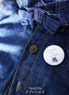 Camille 2 z'ailes E | Badge, Magnet, Miroir Retro color
