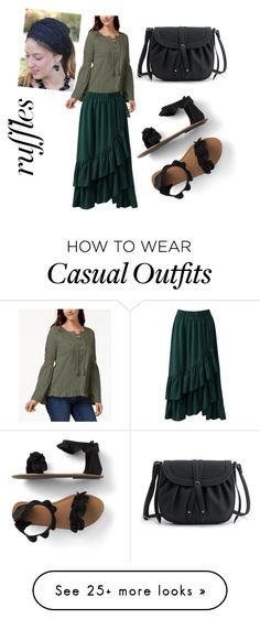 """Casual Ruffles"" by perfectisaskinnedknee on Polyvore featuring Style & Co., Sans Souci, Sara Attali, ruffles and RuffLyfe Casual Wear, Casual Outfits, Pretty Much, Eclectic Style, Ruffles, Makeup, Polyvore, How To Wear, Fashion"