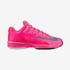 Women's Nike Lunar Ballistec 631648 601 Pink Flash White Grey Tennis Sneakers 6
