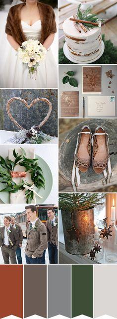 Chic Copper Winter Wedding Color Inspiration | www.onefabday.com
