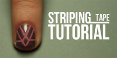 Striping Tape Manicure Tutorial