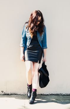 Mademoiselle Robot: What I Wore - Leather Skirt