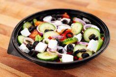 Salata Greceasca (320g) Pizza Burgers, Fruit Salad, Menu, Food, Menu Board Design, Fruit Salads, Essen, Meals, Yemek
