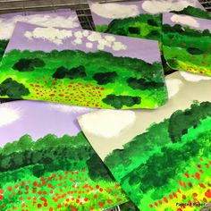 PAINTED PAPER: Monet's Fields of Poppies