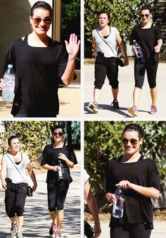 Lea and her mom on a hike (October 26, 2014)