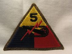"""WW2 WWII US Army 5th Armored Division Patch """"Victory Division"""" Hurtgen Forest 