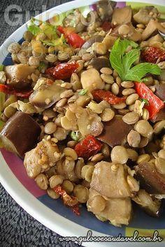 Receita de Salada de Lentilha com Berinjela