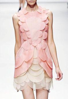 pastel petals. this dress looks like it belongs in a vase