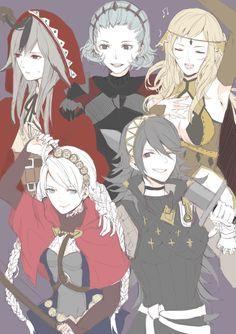Fire Emblem Fates: Ophelia, Nina, Velouria, Soleil, Sophie