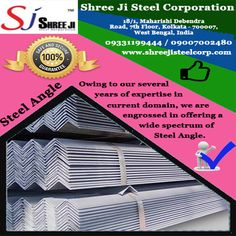 Shree Ji Steel Corporation supplies a wide range of Mild Steel (MS) Angles. Steel Angles are used for manufacturing of truck-trailers, EOT crane and Gantry, escalators and elevators, ship building, factory sheds, bus body, communication and transmission towers, conveyors, boilers, agricultural equipment, and construction of bridges, scaffolding and many more fabrication and engineering industries.  For any inquiry, please call us at +919331199444 Shree Ji Steel Corporation is an ISO…