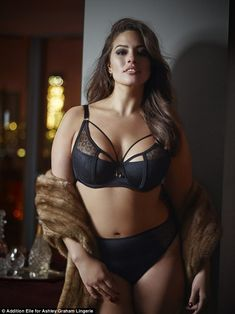 Wearing her own: Plus-size model Ashley Graham, 28, has launched her new lingerie line in ...