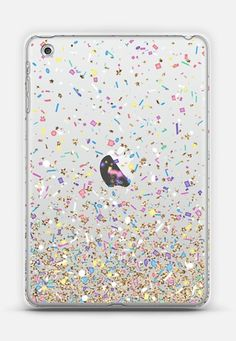 f0d5147542193 Gold Multicolor Pastel Confetti Transparent iPad Mini 1 2 3 case by Organic  Saturation