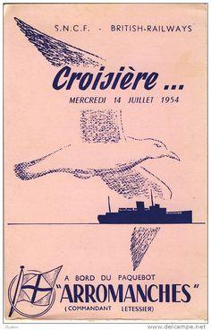 Arromanches 1947, SNCF, Francia