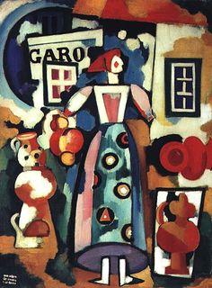 Amadeo de Souza-Cardoso - Canção popular — a Russa e o Figaro, 1916
