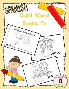 Un librito de la palabra yoStudents write the target sight word on each page as…                                                                                                                                                                                 Más
