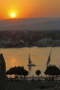 Felucca on the Nile In Aswan, Egypt