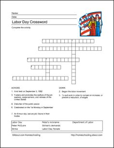image regarding Labor Day Word Search Printable identified as 11 Ideal ST September-Labor Working day visuals in just 2017 Crossword