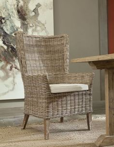 Accent Chairs For Living Room, Dining Room Chairs, Dining Rooms, Beach Dining Room, Low Country Homes, Woven Chair, Wing Chair, Wicker Furniture, Furniture Manufacturers
