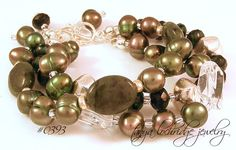 Tanya Lochridge Jewelry Green Jade & Pearl Bracelet