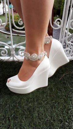 8269f655be4 Wedding Shoes For Sarah Bridal Shoes Wedges