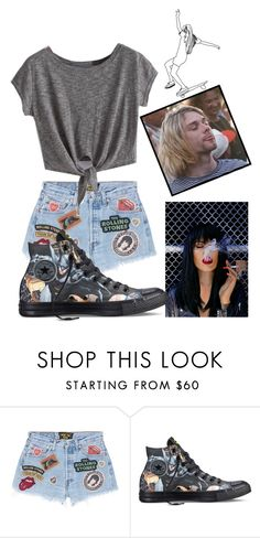 """""""Untitled #35"""" by vitoriafreitas75 ❤ liked on Polyvore featuring MadeWorn and Converse"""