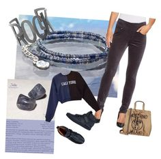 """""""Iolite Rock style"""" by lkcrystallove on Polyvore featuring Moschino, Jag Jeans, Marc Jacobs, Cynthia Rowley and Steve Madden"""