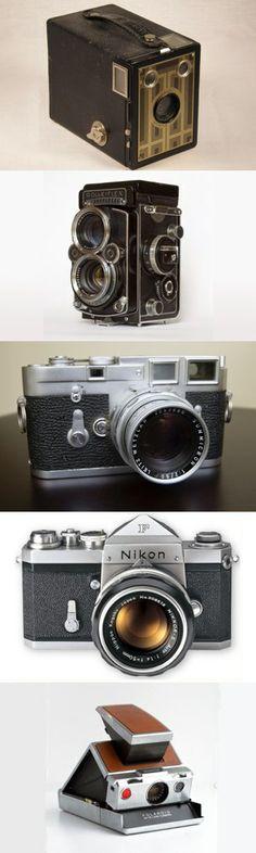 Cinque macchine fotografiche storiche