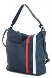 Hobo Bag dunkelblau Lichtblau Galini Streifen dark blue kombi - Bags & more Gym Bag, Bags, Fashion, Artificial Leather, Dark Blue, Stripes, Handbags, Moda, Fashion Styles