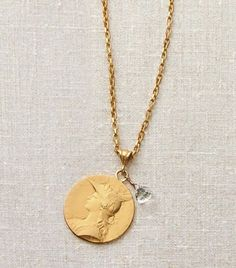 Pendleton French Coin Necklace - usd 118 (minus crystal)