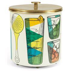 Piero Fornasetti ice bucket | Party | Fun | Pattern | Mid Century Modern | Decor | Accessories