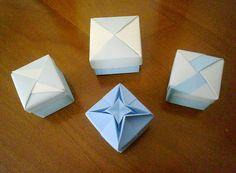 Origami boxes celeste