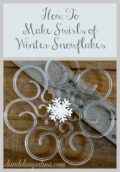 Create a winter wonderland scene in your home using leftover Christmas supplies. The Everyday Home Snowflakes - Dandelion Patina
