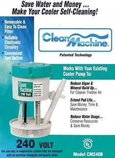 mastercool cm240b clean machine water filter pump system for evaporative cooler 240v back to